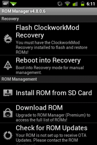 Flash ClockworkMod Recovery