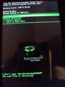 TWRP Backup